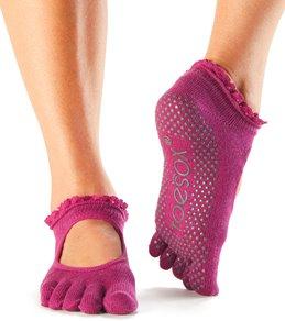 Toesox Mary Jane Bella Full-Toe Yoga Grip Socks
