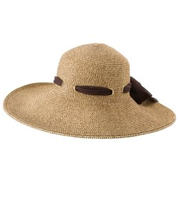 Sun N Sand Josie Chiffon Scarf Straw Hat