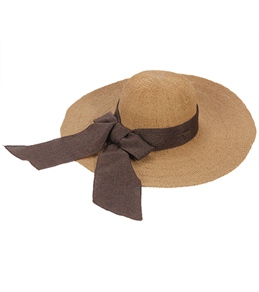 Sun N Sand Melina Crochet W/ Linen Scarf Straw Hat