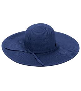 Sun N Sand Shoreline Hues Large Brim Straw Hat
