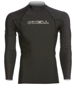 O'Neill Men's Basic Skins Long Sleeve Crew Rashguard