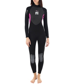 Body Glove Women's Pro 3 3/2MM Back Zip Fullsuit Wetsuit
