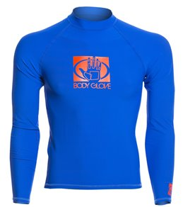 Body Glove Men's Basic Long Sleeve Fitted Rashguard