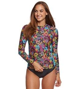 EQ Swimwear Rio Floral L/S Rash Guard