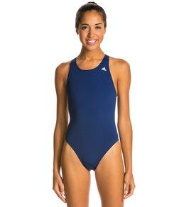 아디다스 여아(7~16) 강습용 원피스 수영복 Adidas Womens Solids V Back One Piece Swimsuit