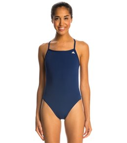 아디다스 여아(7~16) 강습용 원피스 수영복  Adidas Womens Infinitex + Solids C Back One Piece Swimsuit