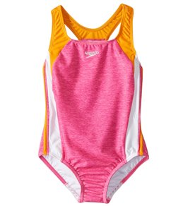 76232e4688fd7 Speedo Girls' Solid Infinity Splice One Piece Swimsuit (Big ...