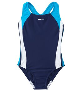 Speedo Girls' Solid Infinity Splice One Piece Swimsuit