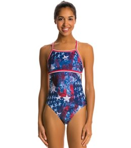 Illusions Activewear Betsy American Monokini One Piece Swimsuit