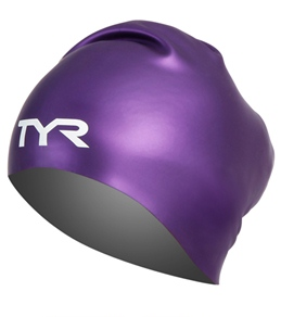 TYR Long Hair Wrinkle Free Silicone Swim Cap