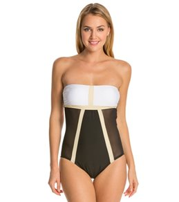 Luxe by Lisa Vogel Mrs. Bond Bandeau Maillot