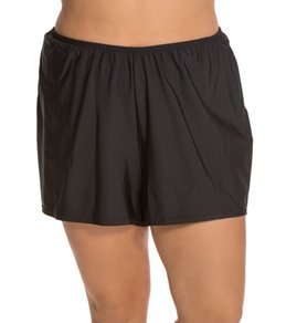 Penbrooke Plus Size Solid Swim Short