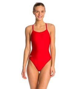Speedo PowerFLEX Solid Flyback Swimsuit