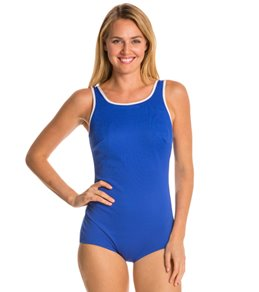 Tuffy Chlorine Resistant Active Tank Mastectomy One Piece Swimsuit