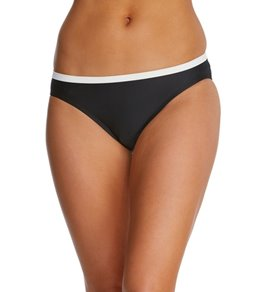 Eco Swim Solids Banded Hipster Bikini Bottom