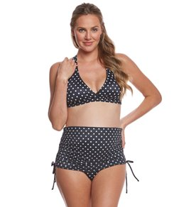 89803a23e03e8 Prego Swimwear Maternity Dot Ruched Two Piece Set
