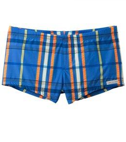 Sauvage Men's Como Italia Plaids Square Cut Swim Short