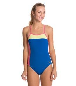 Speedo Color Block Extreme Back One Piece Swimsuit