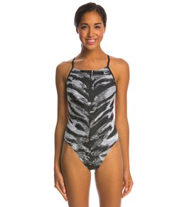 Nike Swim Electric Anomaly Cut Out Tank One Piece Swimsuit