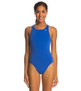 나이키 여성 수영복 강습용 원피스 스윔수트  Nike Womens Solid Poly Fastback One Piece Tank Swimsuit