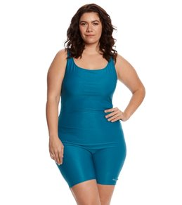 Sporti Plus Size Polyester Solid Fitness One Piece Unitard