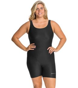 62d153b09d5e0 Sporti Plus Size Polyester Solid Fitness One Piece Unitard