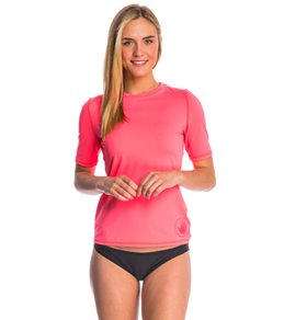 Body Glove Women's Smoothies Fitted Short Sleeve Rashguard