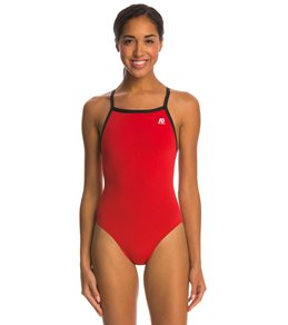 A3 Performance Female X-Back Poly Swimsuit w/ Contrast Trim