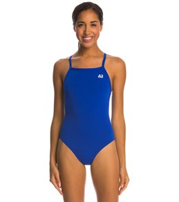 A3 Performance Female X-Back Solid Poly Swimsuit