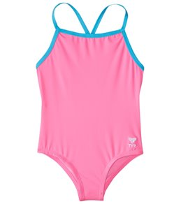 28467fd78af6d TYR Girls' Solid Diamondfit One Piece Swimsuit ...
