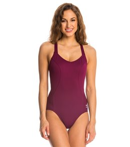 TYR Solid Halter Controlfit One Piece Swimsuit