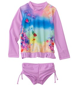 Seafolly Girls La Mermaid UV Sunvest Set (6mos-7yrs)