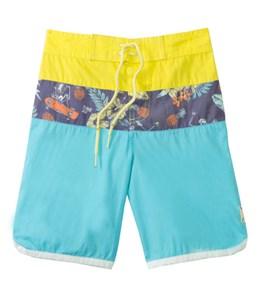 Tiger Joe Boys' Skeleton Island Retro Boardie Shorts (6mos-10yrs)