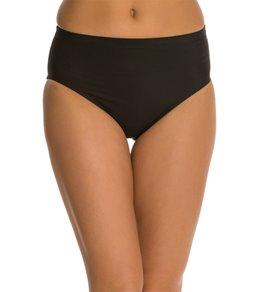Maidenform Swimwear Beach Solid High Waist Bikini Bottom
