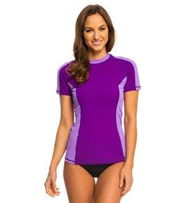 Speedo Women's Zip Pocket S/S Rashguard