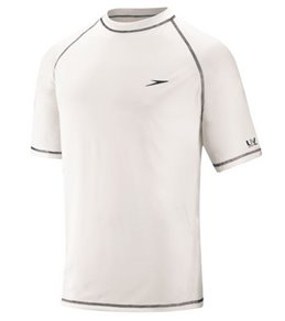 Speedo Men's Easy Short Sleeve Swim Shirt (Extended Sizes)