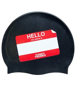 Funky Trunks HELLO My name is Silicone Swim Cap