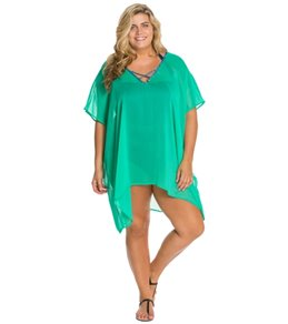 Jessica Simpson Plus Size Gypsy Life Chiffon Cover Up