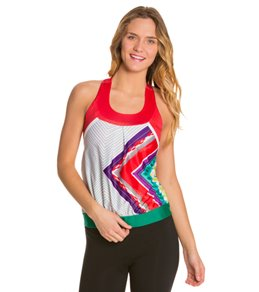 Moxie Cycling Women's Layered Printed Tank
