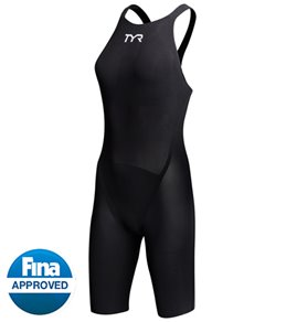 TYR Avictor Solid Female Closed Back Kneeskin Tech Suit Swimsuit