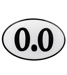 Bay Six 0.0 Oval Decal