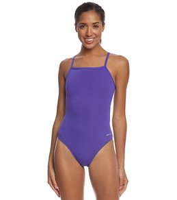 Sporti Poly Pro Solid Thin Strap One Piece Swimsuit
