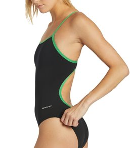 Sporti Poly Pro Piped Thin Strap One Piece Swimsuit