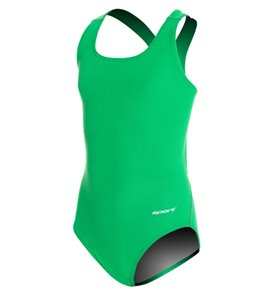 Sporti Poly Pro Solid Wide Strap One Piece Swimsuit Youth (22-28)