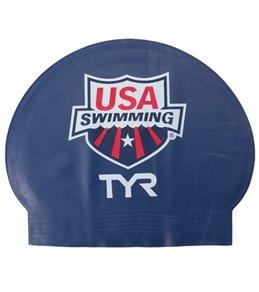TYR USA Swimming Latex Swim Caps