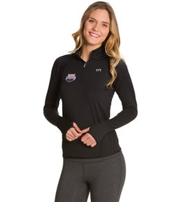 TYR USA Swimming All Elements Women's Long Sleeve 1/4 Zip Pullover
