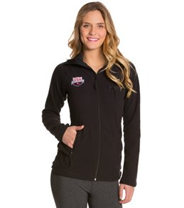TYR USA Swimming All Elements Women's Polar Fleece Zip-Up