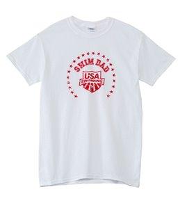 USA Swimming Men's Swim Dad Shield Crew Neck T-Shirt