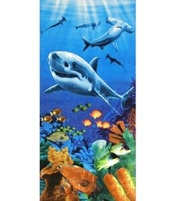 Dohler Sharks Colorful Reef Beach Towel 30 x 60