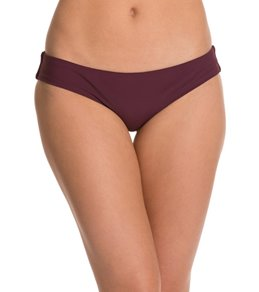 Aerin Rose Bordeaux Low Rise Boy Brief Bikini Bottom